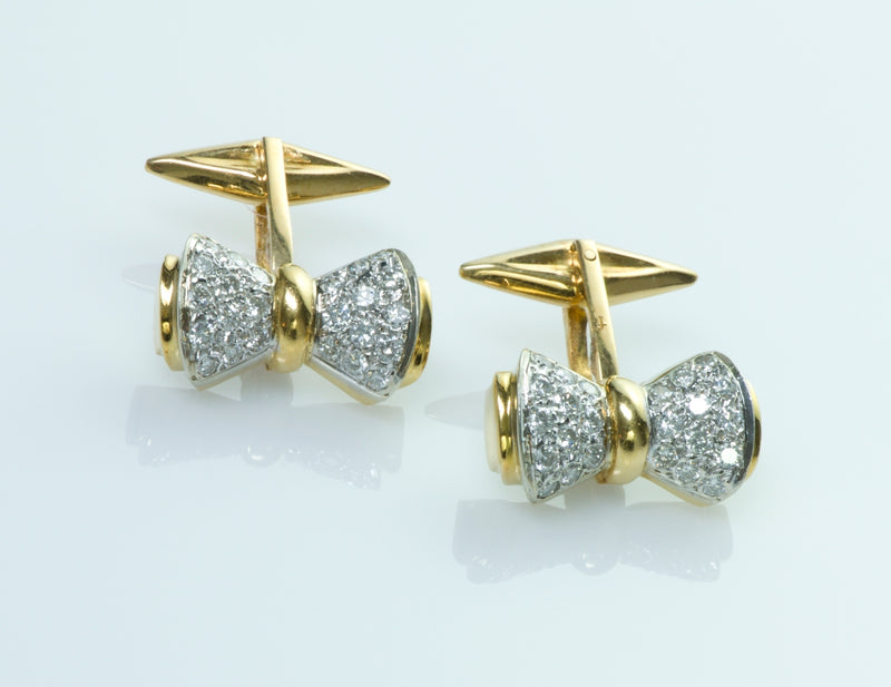 Diamond Bow Cufflinks