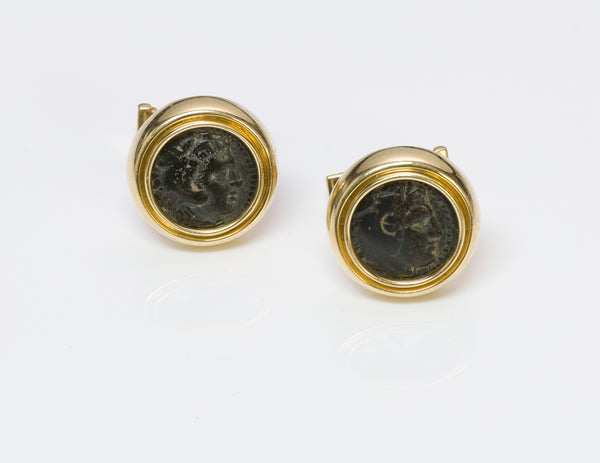Gold Ancient Coin Cufflinks