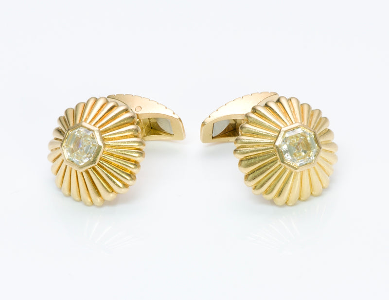 Gold Fancy Cut Diamond Cufflinks