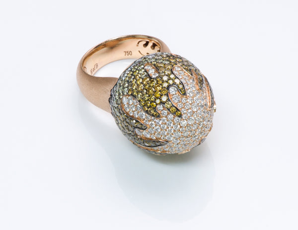 House of Baguettes Gold Diamond Dome Ring