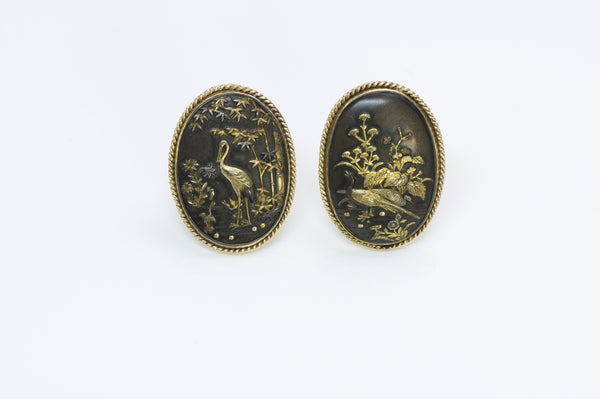 Shakudo Gold Cufflinks