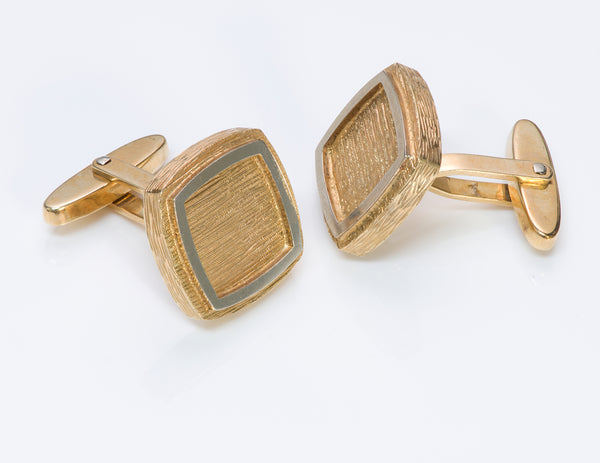 Textured Gold Cufflinks