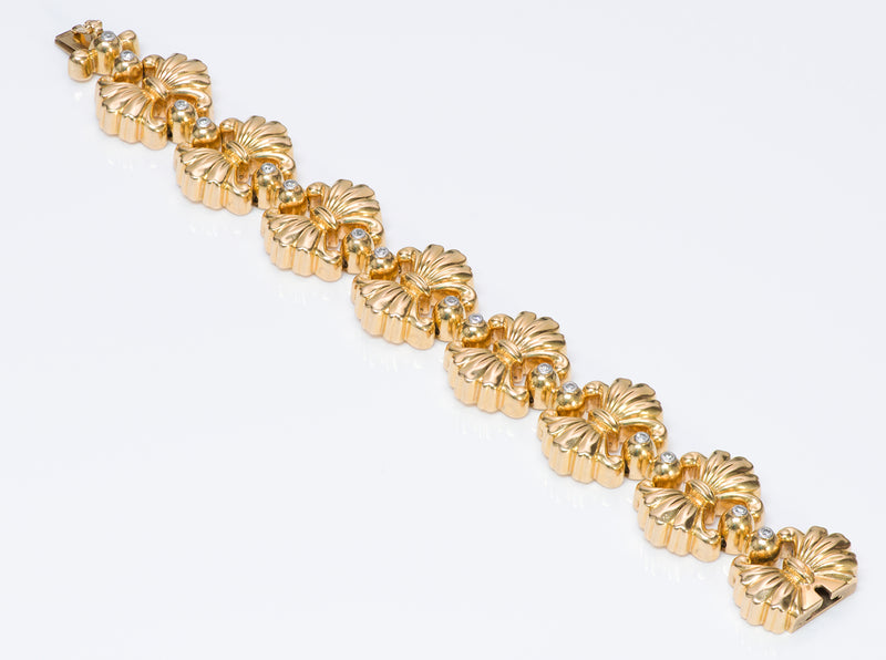 Vintage 18K Gold Diamond Bracelet-3