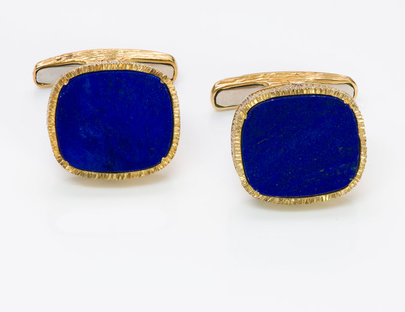 Lapis 18K Gold Cufflinks