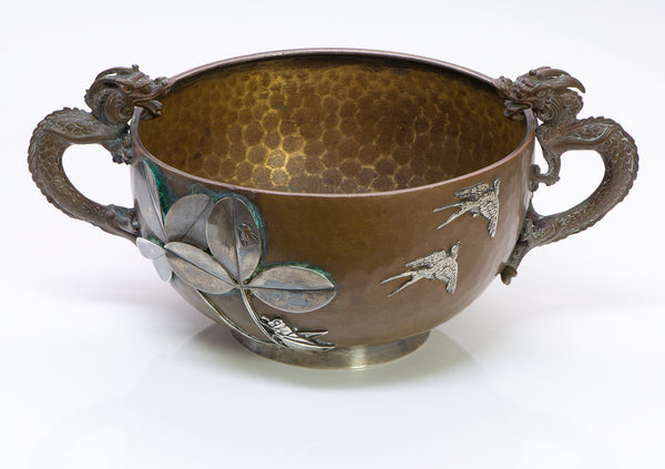 Gorham Mixed Metal Copper Silver Dragon Cup/Bowl