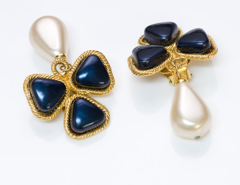 Chanel Gripoix Pearl Earrings