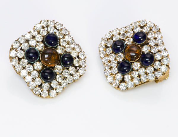 Chanel Crystal Gripoix Earrings