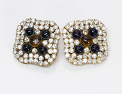Vintage Chanel Crystal Gripoix Earrings