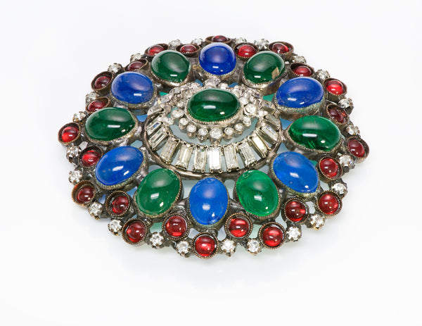 Chanel Maison GRIPOIX Glass Brooch