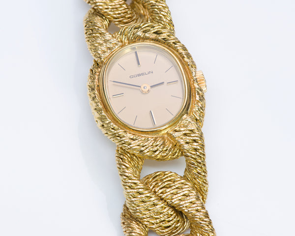 Gübelin George L'Enfant 18K Gold Watch Bracelet