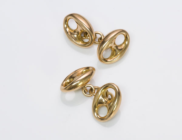 Gucci Marina 18K Gold Cufflinks