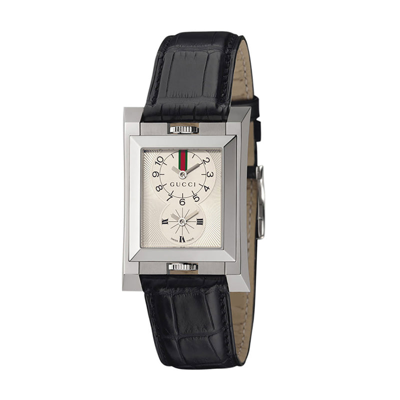 Gucci 111 Dual Time Collection Guccio Watch