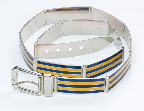Gucci Enamel Buckle Belt