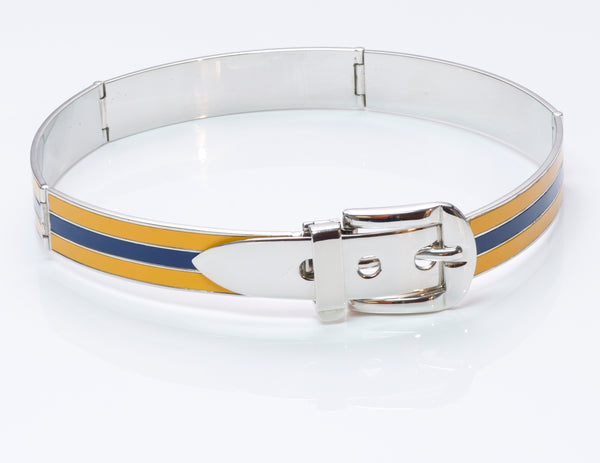 Gucci Enamel Buckle Choker Necklace
