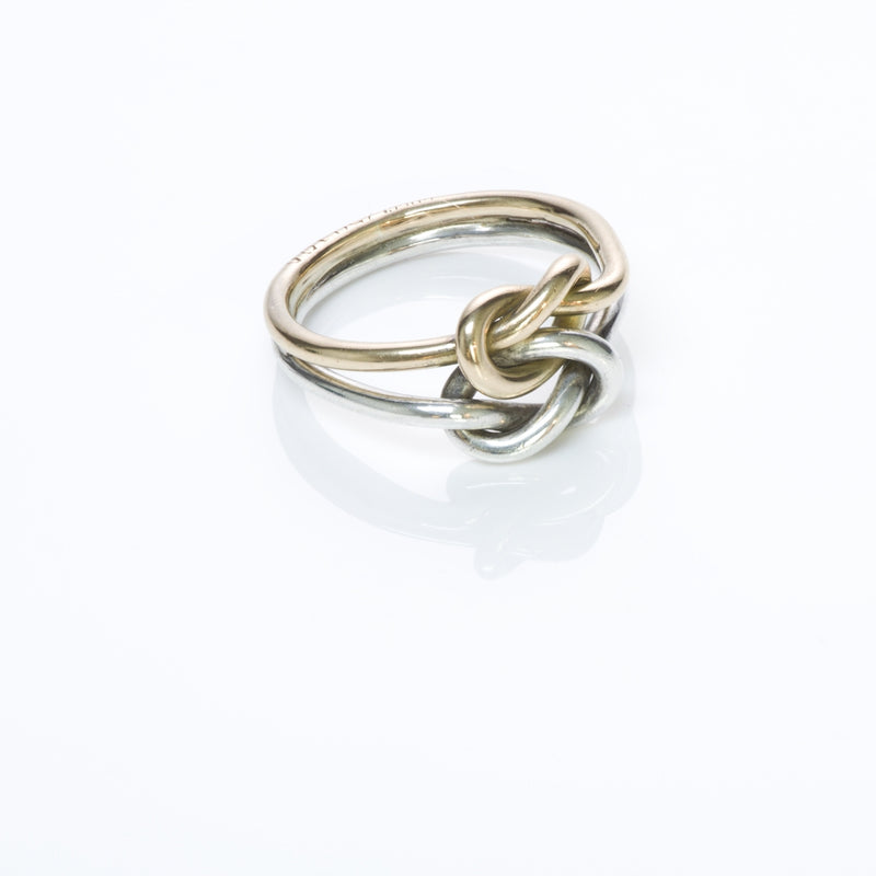 Gucci Gold Silver Knot Ring