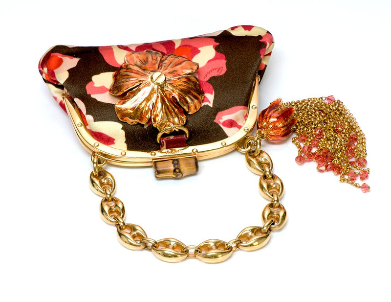 Gucci by Tom Ford Bamboo Satin Flower Bag 2