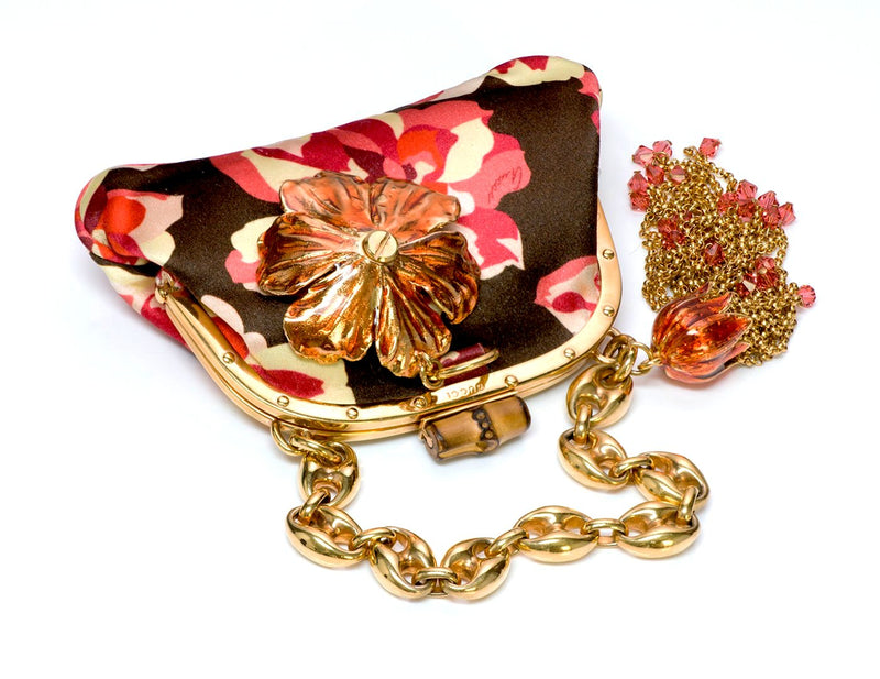 Gucci by Tom Ford Bamboo Satin Flower Bag