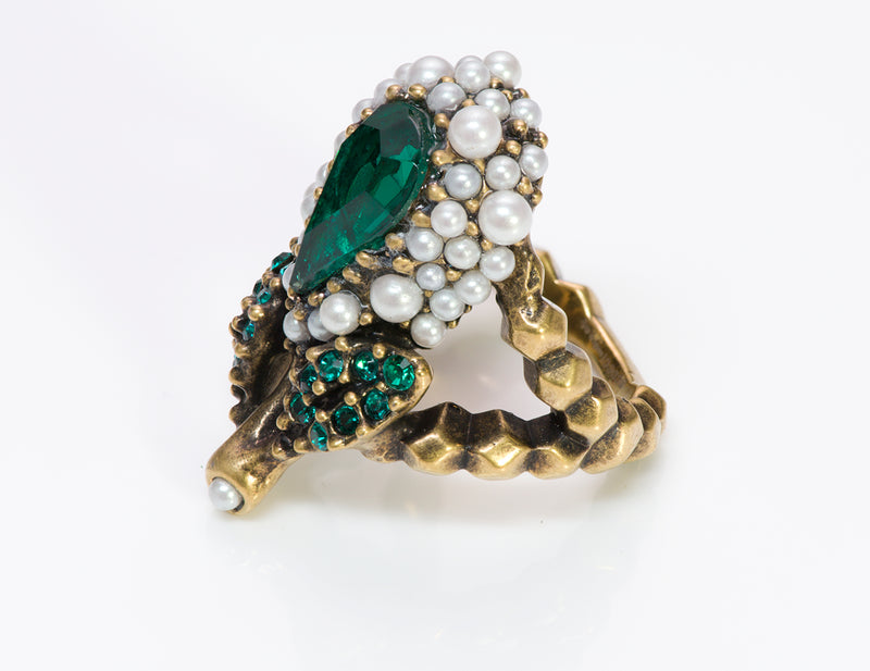 Gucci Crystal Pearl Ring1