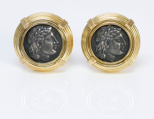 Gucci 18K Gold Ancient Coin Earrings
