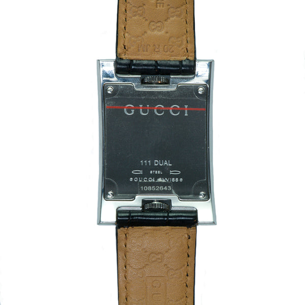 Gucci 111 Dual Time Collection Guccio Watch YA111304