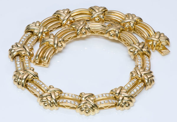 Hammerman Brothers Gold Diamond Necklace