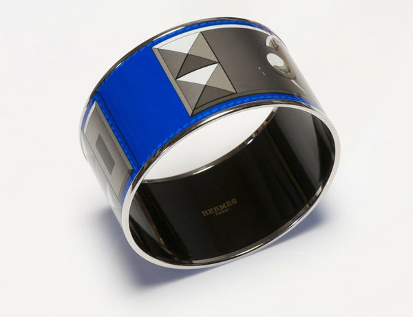 HERMES Paris Blue Enamel Collier de Chien Bracelet