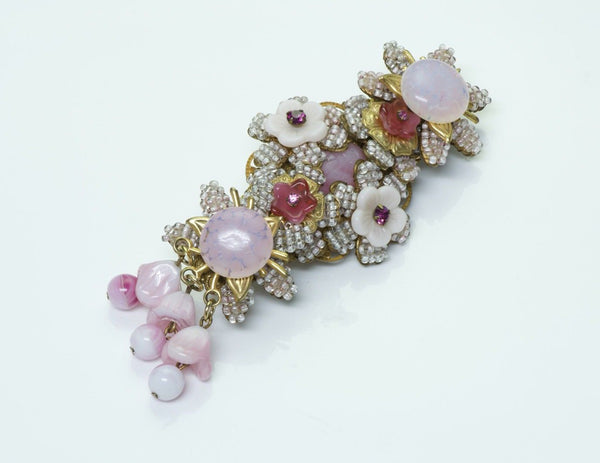 Stanley Hagler NYC Beaded Crystal Brooch