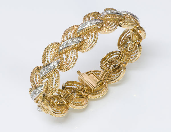 Hammerman Brothers 18K Gold Diamond Bracelet -1
