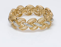 Hammerman Brothers 18K Gold Diamond Bracelet