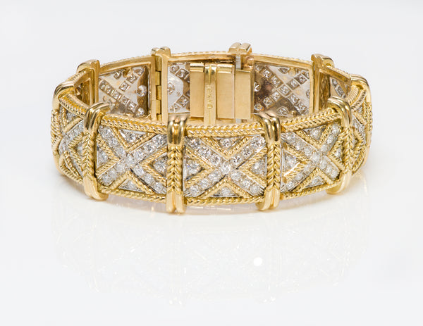 Hammerman Brothers 18K Yellow Gold Diamond Bracelet