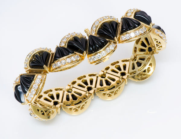 Hammerman Brothers Gold Onyx Diamond Bracelet