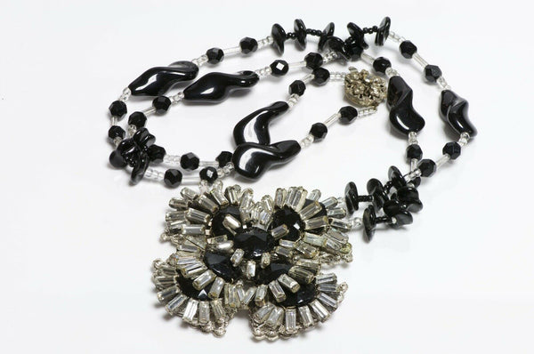 Miriam Haskell 1950's Flower Necklace