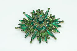 Hattie Carnegie Green Crystal Brooch