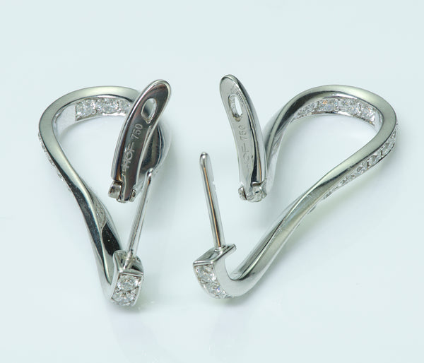Hearts on Fire 18K White Gold Diamond Earrings