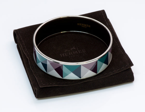 Hermès Palladium Plated Enamel Bangle