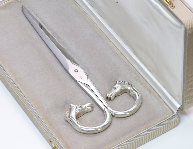 Hermès Sterling Equestrian Scissors