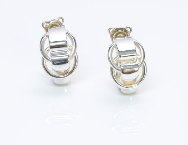 Hermès Paris Sterling Silver Chain Earrings