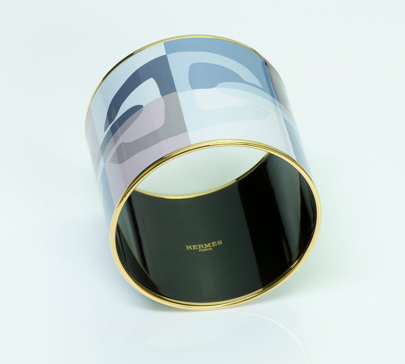 "Hermès Extra Wide Enamel ""Chaine d'Ancre"" Bangle"