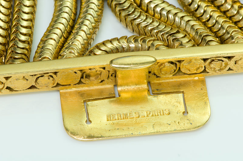 Hermès Gilt Metal Chain Bracelet