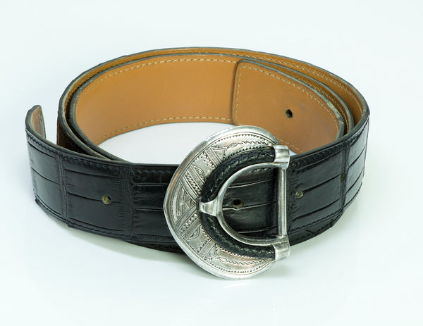 Hermès Touareg Silver Alligator Belt