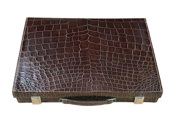 Hermes 1950's Genuine Crocodile Vanity Men's Case
