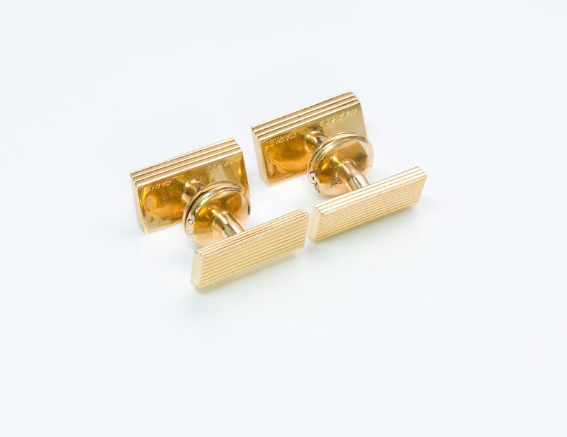 Hermès Gold Cufflinks