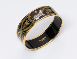 Hermes Grand Apparat Enamel Bangle Bracelet