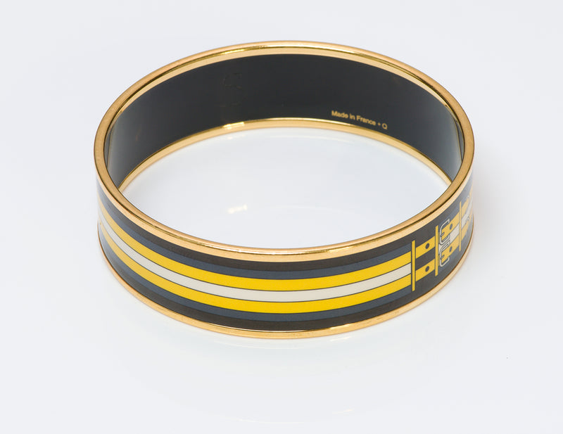 Hermes Buckle Enamel Bangle Bracelet