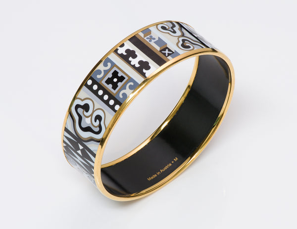 Hermes Wide Enamel Bangle Bracelet