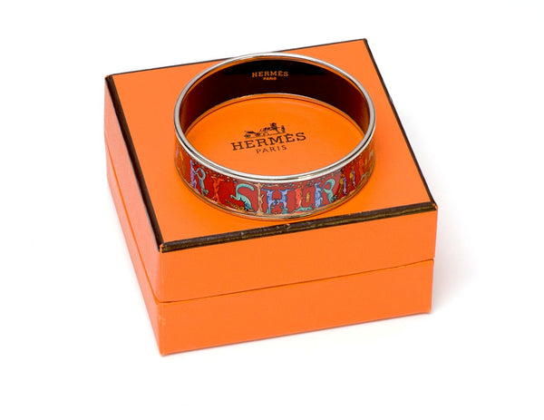 Hermès letter enamel bangle