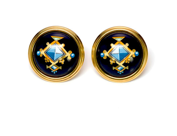Hermès Medor Enamel Earrings