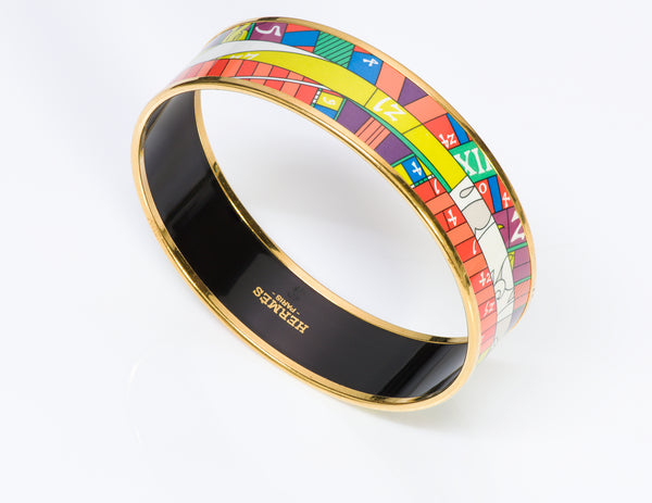 Hermes Astrologie Wide Enamel Bracelet Bangle
