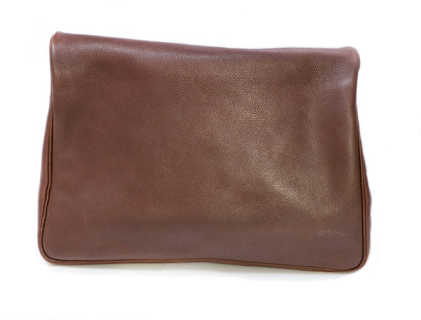 HERMES Massai Brown Clemence Leather Bag 2