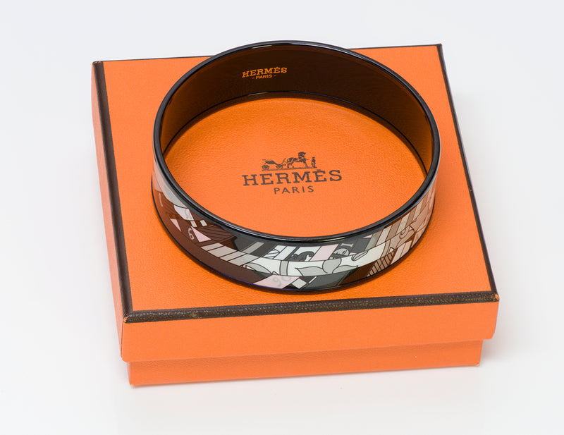 Hermes Astrologie Wide Enamel Bangle Bracelet